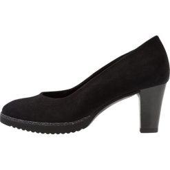 Gabor WIDE FIT Czółenka na platformie schwarz. Czarne buty ślubne damskie Gabor, z materiału, na platformie. Za 419,00 zł.