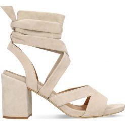 Sandały HANA. Szare sandały damskie na słupku marki Gino Rossi, z gumy. Za 229,90 zł.