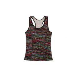 Bluzki asymetryczne: bluzka damska bezrękawnik klasyczna we wzory