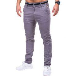 Spodnie męskie: SPODNIE MĘSKIE CHINO P156 – SZARE