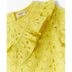 Sukienki dziewczęce: Mango Kids – Sukienka dziecięca Yellow 92-104 cm
