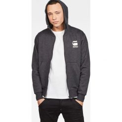 G-Star Raw - Bluza. Czarne bluzy męskie rozpinane marki G-Star RAW, l, z bawełny, z kapturem. W wyprzedaży za 329,90 zł.