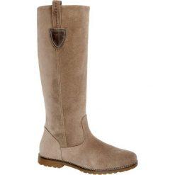 Kozaki damskie 5th Avenue szarobrązowe. Brązowe buty zimowe damskie marki 5th Avenue, z materiału, na obcasie. Za 299,90 zł.