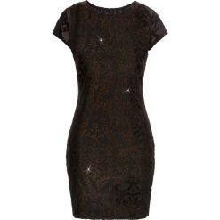 Sukienki: Sukienka z nadrukiem brokatowym bonprix czarny