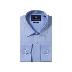 KOSZULA BLUE CLASSIC. Brązowe koszule męskie na spinki marki QUECHUA, m, z elastanu, z krótkim rękawem. Za 149,99 zł.