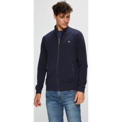 Guess Jeans - Bluza. Szare bluzy męskie rozpinane marki Guess Jeans, l, z aplikacjami, z bawełny. Za 429,90 zł.