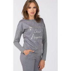 Swetry klasyczne damskie: Sweter z połyskującym nadrukiem
