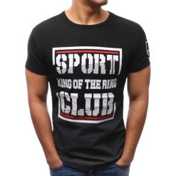T-shirty męskie z nadrukiem: T-shirt męski z nadrukiem czarny (rx2671)