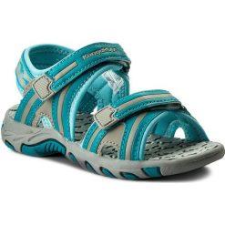 Sandały KANGAROOS - Corser 16089 000 802 M Dk Smaragd/Lt Grey. Niebieskie sandały męskie skórzane marki KangaROOS. Za 129,00 zł.