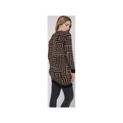 Długi sweter, SWE161 czarny/mocca MKM. Brązowe swetry klasyczne damskie marki Mkm swetry, l, z dzianiny. Za 148,00 zł.