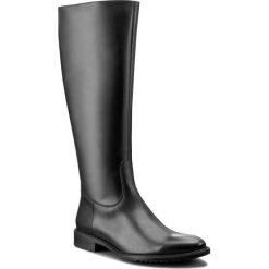Oficerki GINO ROSSI - Noriko DKH196-T19-E100-9900-F 99. Czarne buty zimowe damskie marki Nessi, ze skóry, na niskim obcasie. W wyprzedaży za 369,00 zł.
