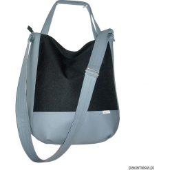 Shopper bag damskie: 5715 ankate, szara torba na ramie, szary worek