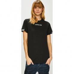Adidas Originals - Top. Czarne topy damskie adidas Originals, s, z bawełny, z okrągłym kołnierzem. Za 129,90 zł.