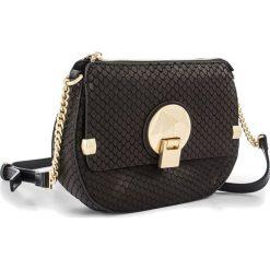 Torebki klasyczne damskie: Skórzana torebka w kolorze czarnym – 20 x 15 x 5 cm