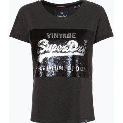 Superdry - T-shirt damski, szary. Szare t-shirty damskie marki Superdry, l, z nadrukiem, z bawełny, z okrągłym kołnierzem. Za 179,95 zł.