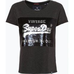Superdry - T-shirt damski, szary. Szare t-shirty damskie Superdry, m. Za 179,95 zł.