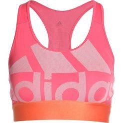 Biustonosze sportowe: adidas Performance LOGOBRA UNPAD Biustonosz sportowy real pink