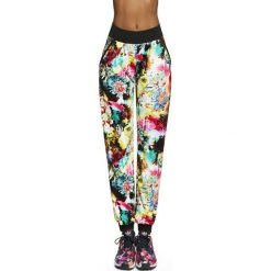 Spodnie damskie: Bas Black Damskie spodnie Glade biało-kolorowe r. L