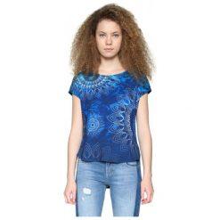 Desigual Desigual T-Shirt Damski Xs Ciemno-Niebieski. Szare t-shirty damskie marki Desigual, l, z tkaniny, casualowe, z długim rękawem. W wyprzedaży za 159,00 zł.