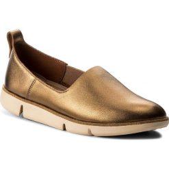 Półbuty CLARKS - Tri Curve 261325344 Bronze. Brązowe półbuty damskie skórzane marki Clarks, na płaskiej podeszwie. W wyprzedaży za 299,00 zł.