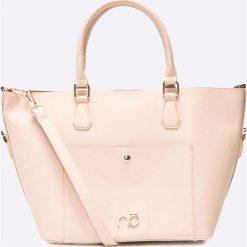 Nobo - Torebka. Brązowe torebki klasyczne damskie Nobo, w paski, z materiału, średnie. W wyprzedaży za 119,90 zł.