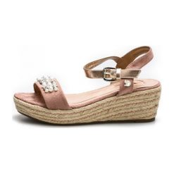 Tom Tailor Sandały Damskie 38 Różowe. Czerwone sandały damskie Tom Tailor, z materiału, na wysokim obcasie, na koturnie. W wyprzedaży za 189,00 zł.