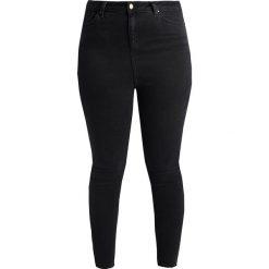 New Look Curves WASHED JET Jeans Skinny Fit black. Czarne jeansy damskie New Look Curves, z bawełny. W wyprzedaży za 170,10 zł.