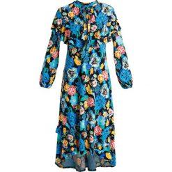 Długie sukienki: Topshop ALPHA FLORAL FRILL Długa sukienka black