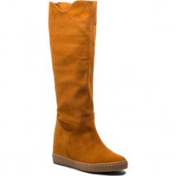 Kozaki R.POLAŃSKI - 0980 Rudy 36 Zamsz. Czarne buty zimowe damskie marki R.Polański, ze skóry, na obcasie. W wyprzedaży za 279,00 zł.