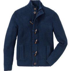 Sweter rozpinany z guzikami kołkami Regular Fit bonprix ciemnoniebieski. Niebieskie kardigany męskie bonprix, l, z dzianiny. Za 119,99 zł.