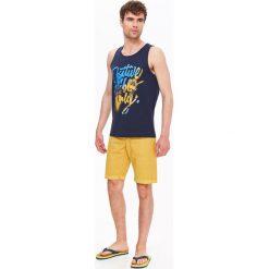T-shirty męskie z nadrukiem: T-SHIRT MĘSKI BEZ RĘKAWÓW