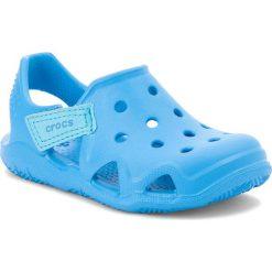 Sandały CROCS - Swiftwater Wave K 204021  Ocean. Niebieskie sandały chłopięce marki Crocs, z tworzywa sztucznego. Za 129,00 zł.