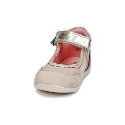 Baleriny Dziecko Kickers  BIMAMBO. Niebieskie baleriny dziewczęce marki Kickers, z kauczuku, na sznurówki. Za 202,30 zł.