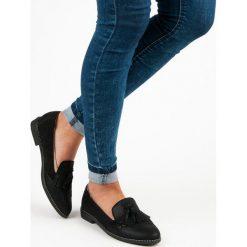 Mokasyny damskie: Bestelle stylowe damskie mokasyny czarne