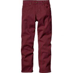 Rurki męskie: Spodnie ze stretchem Slim fit bonprix bordowy