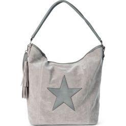 Torebka z aplikacją w kształcie gwiazdy i chwostem bonprix srebrnoszary. Szare torebki klasyczne damskie bonprix, z aplikacjami, z aplikacjami. Za 99,99 zł.