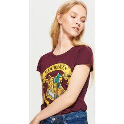 Bluzki, topy, tuniki: Koszulka harry potter - Bordowy