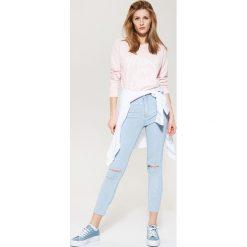 Jeansy ankle skinny - Niebieski. Niebieskie jeansy damskie marki House. W wyprzedaży za 59,99 zł.