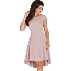Sukienki asymetryczne: Sukienka w kolorze ciemnobeżowym