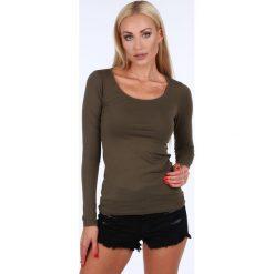 Bluzki damskie: Bluzka z długim rękawem khaki MP12392