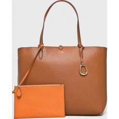 Lauren Ralph Lauren - Torebka. Pomarańczowe torebki klasyczne damskie Lauren Ralph Lauren, z materiału, duże. Za 769,90 zł.