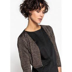 Swetry damskie: Bolerko z błyszczącej dzianiny