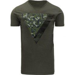 T-shirty męskie z nadrukiem: T-shirt męski z nadrukiem zielony (rx1948)