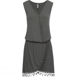 Sukienka shirtowa z założeniem kopertowym bonprix zielony. Brązowe sukienki z falbanami marki Mohito, l, z kopertowym dekoltem, kopertowe. Za 79,99 zł.