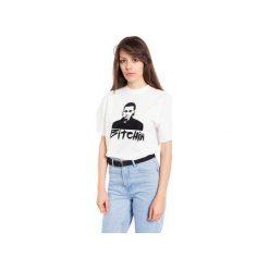 T-SHIRT BITCHIN. Białe t-shirty damskie Rebeka, m, z nadrukiem. Za 49,00 zł.