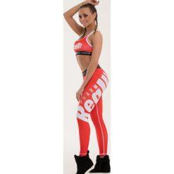 Spodnie dresowe damskie: Real Wear Leginsy damskie Sztanga czerwone r. XS