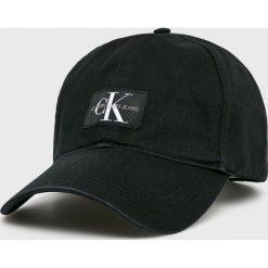 Calvin Klein Jeans - Czapka. Czarne czapki z daszkiem męskie marki Calvin Klein Jeans, z bawełny. Za 159,90 zł.
