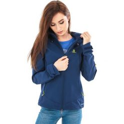 Salomon Kurtka  damska Ranger Medieval Blue r. L. Czarne kurtki sportowe damskie marki Salomon, z gore-texu, na sznurówki, outdoorowe, gore-tex. Za 399,00 zł.