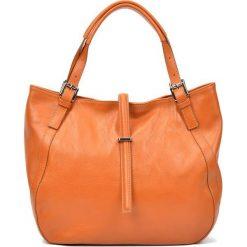 Torebki i plecaki damskie: Skórzana torebka w kolorze jasnobrązowym – (S)30 x (W)45 x (G)13 cm