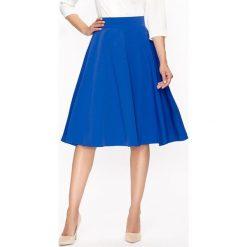 Spódniczki rozkloszowane: Spódnica w kolorze szafirowym